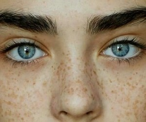 blue, eyes, and eyebrows image
