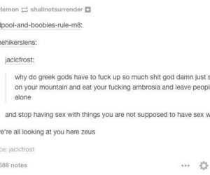 gods, Zeus, and fuck up image