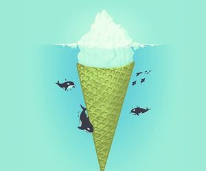 wallpaper, whale, and ice cream image