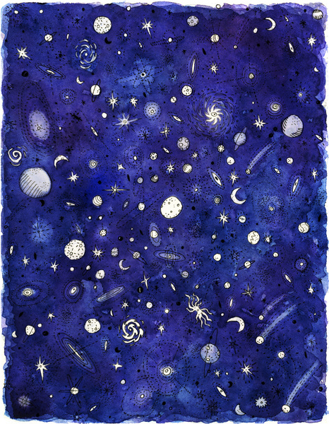stars, blue, and planets image