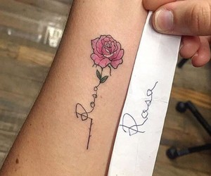 rosa, rose, and tattos image