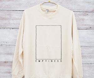 emptiness, sweatshirt, and tumblr shirt image