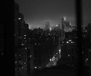 city, black, and night image