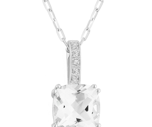diamond, necklace, and pendant image