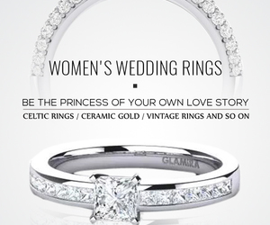 engagement rings, wedding rings, and gold wedding rings image