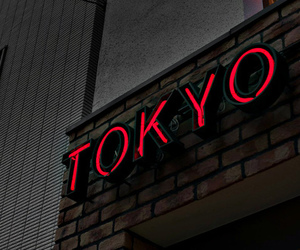red, tokyo, and black image