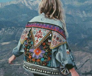 fashion, jacket, and travel image