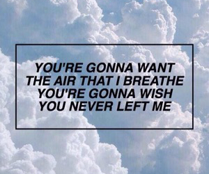 clouds, grunge, and Lyrics image