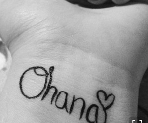 ohana, family, and tattoo image