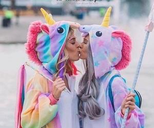 arcobaleno, rainbow, and unicorn image