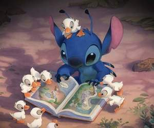 stitch, disney, and duck image