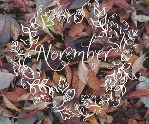 november and leaves image