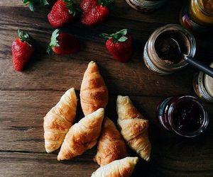 breakfast, croissant, and stylish image