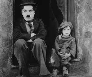 black and white, movie, and charlie chaplin image