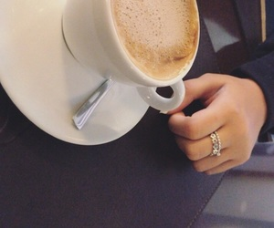 cappuccino, coffee, and couple image