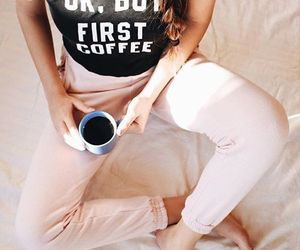 coffee, fashion, and morning image