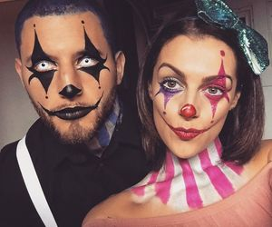 makeup, couple, and Halloween image