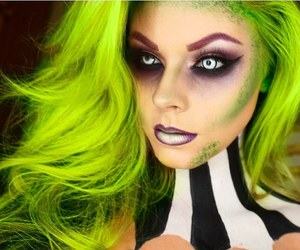 clown, girl, and green image