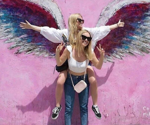 angel, friendship, and girls image