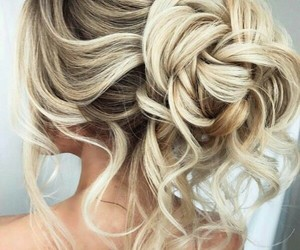 bride, fashion, and hair image