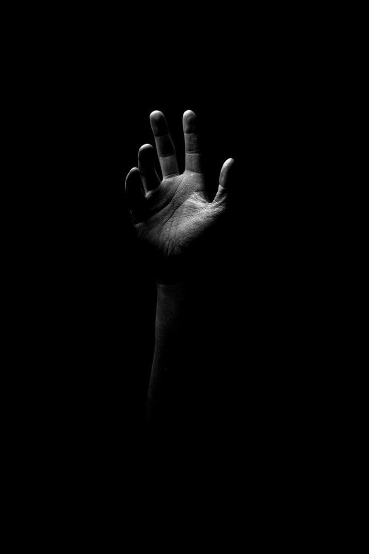 black and hand image