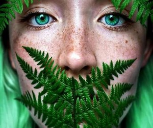 eyes, freckles, and green image