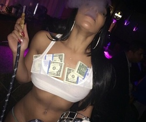 money, stripper, and smoke image