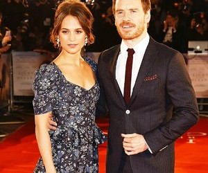 actors, couple, and michael fassbender image