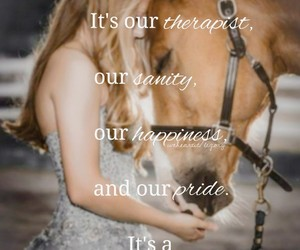 equestrian, friendship, and happiness image