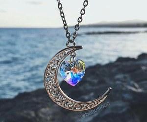 moon, art, and beach image