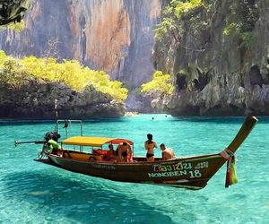 travel, sea, and thailand image