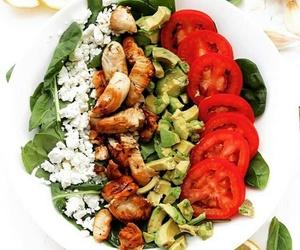 avocado, Chicken, and salad image