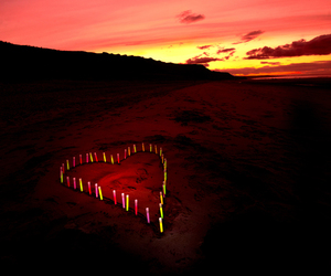 candles, heart, and photography image