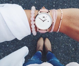 watch, accessories, and pink image