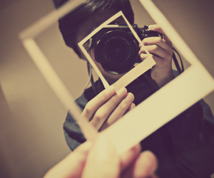 camera, mirror, and style image