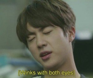 bts, jin, and meme image