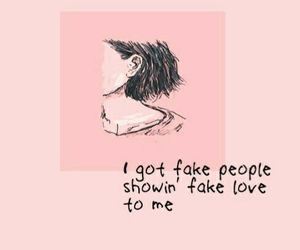 pink, quotes, and fake image