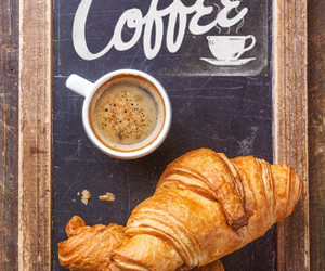 coffee, tumblr, and croissants image