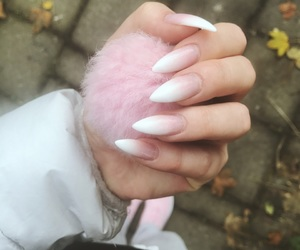 girly, long nails, and luxury image