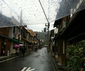 rain and japan image