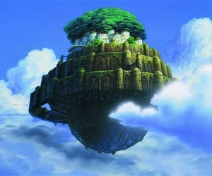 laputa, Castle in the Sky, and studio ghibli image