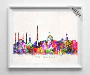 cityscape, Halloween, and wall art image