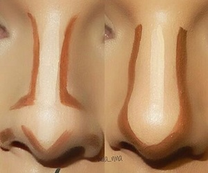 contour, make up, and nose image