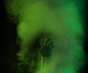 hand, smoke, and blue image