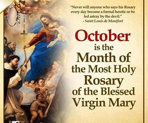 october, rosary, and Virgin Mary image