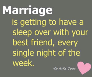 marriage, love, and best friends image