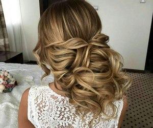 blonde, flowers, and braid image