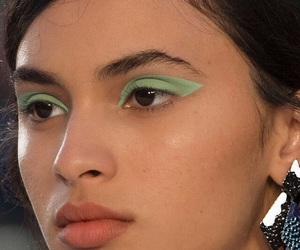 green, makeup, and beauty image