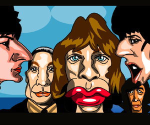 art, ronnie wood, and band image