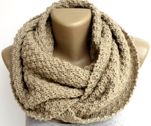 etsy, chunky scarf, and knit scarf image